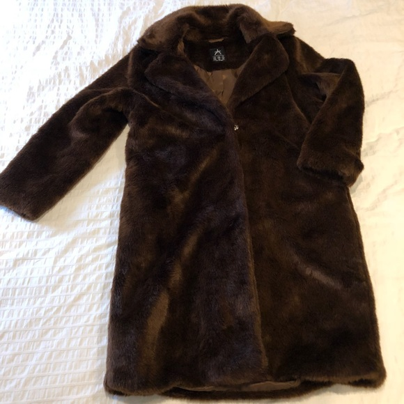 best sell new products for newest selection Brown Teddy Bear Faux Fur Coat